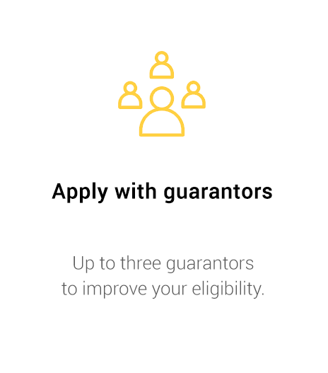 Apply with guarantors